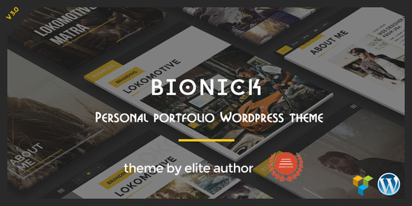 Bionick | Personal Portfolio WordPress Theme by webRedox | ThemeForest