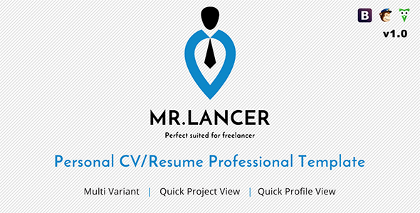 mrlancer personal cvresume template by phoenixcoded themeforest - Personal Resume Templates