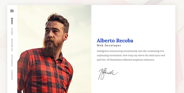 Recoba VCard Html Template By Tavonline ThemeForest - Virtual business card template