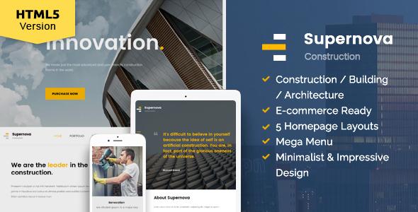 Supernova - Construction website template by kopasoft | ThemeForest