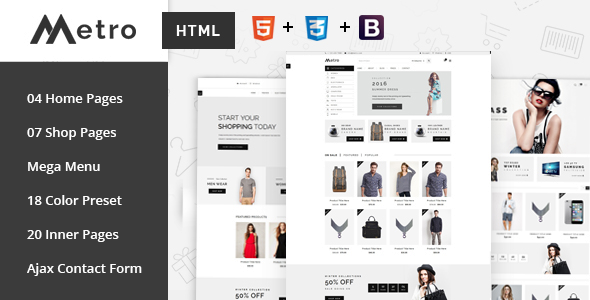 Metro - E-Commerce HTML5 Template by RadiusTheme | ThemeForest