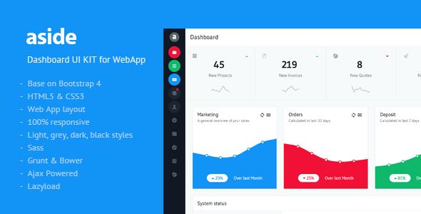 aside - Dashboard UI KIT by Flatfull   ThemeForest