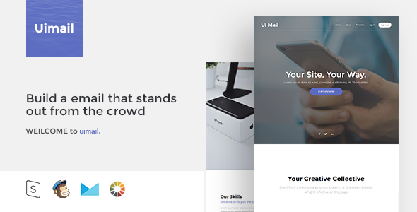 Ui Mail Responsive Email Template By Zay ThemeForest - Build responsive email template