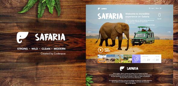 Safaria Responsive Safari Template By Codeopus Themeforest