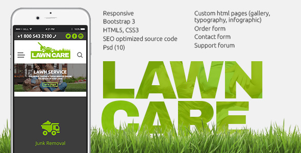 Lawn Care services - HTML website template by themetony | ThemeForest