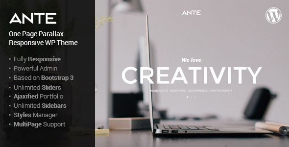 Ante - The Ultimate WordPress Parallax Theme by PremiumLayers ...