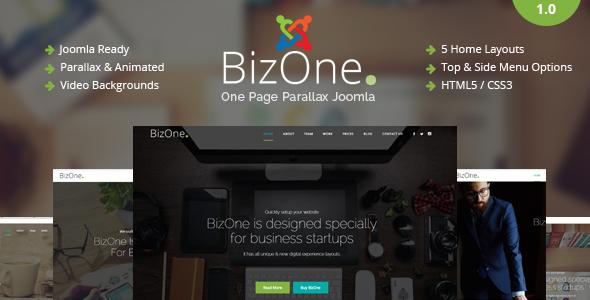 BizOne - One Page Parallax Joomla Template by cmsBlueTheme ...