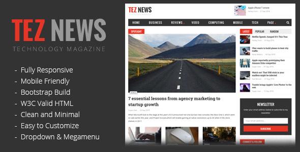 TezNews Magazine/News HTML5 Template by CizThemes | ThemeForest
