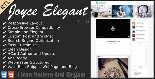Joyce - Clean Responsive Blogger Theme by anarchyta | ThemeForest