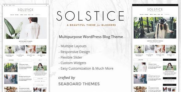 Solstice - Personal & Magazine WordPress Blog Theme by seaboardthemes