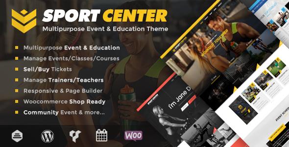 Sport Center - Multipurpose Events & Education WordPress Theme by ...