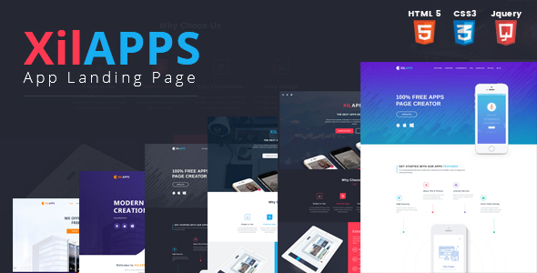 XILAPPS HTML App Landing Page Template By Kitket ThemeForest - App landing page template