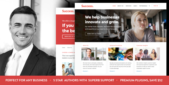 Success - Business and Professional Services WordPress Theme by ...