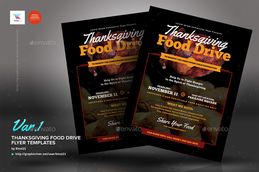 Food Drive Flyer Template Free Gallery Template Design Free Download