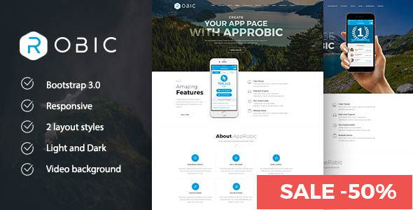 Robic WordPress Landing Page Theme By Powerboosts ThemeForest - Joomla landing page template