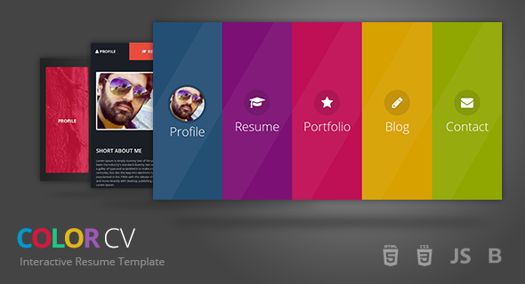 ColorCV Interactive Resume Template by UmairRazzaq ThemeForest