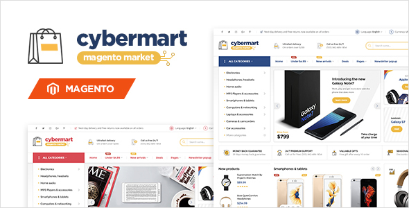 Сybermart - Responsive Magento 2 and Magento 1 Theme by MeigeeTeam