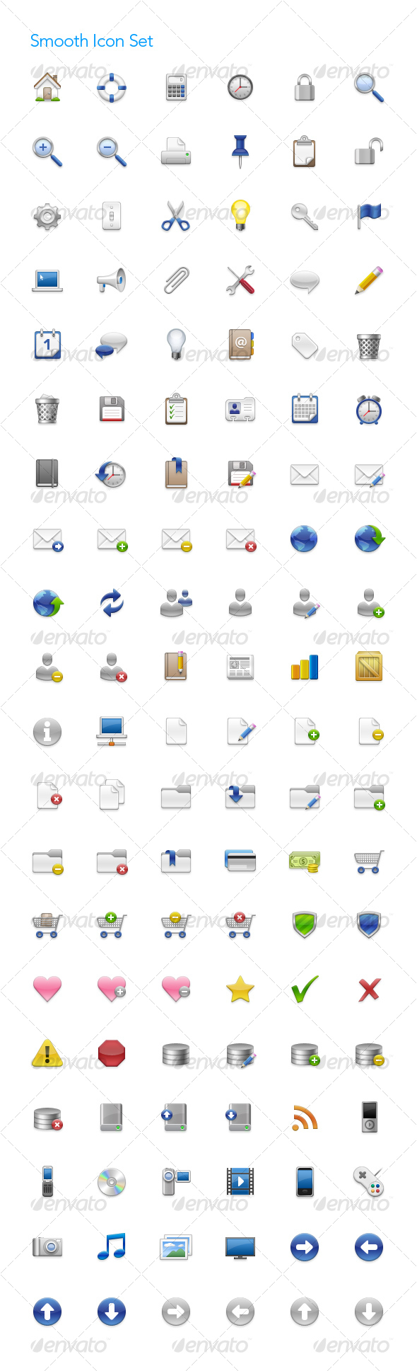 Smooth Icon Set