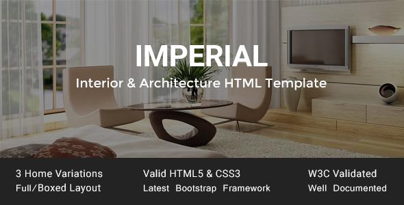 Imperial   Interior U0026 Architecture HTML Template   Business Corporate
