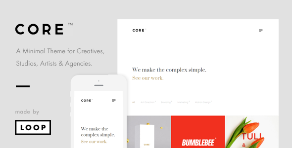 Core – A Minimal Portfolio WordPress Theme for Creatives, Studios ...