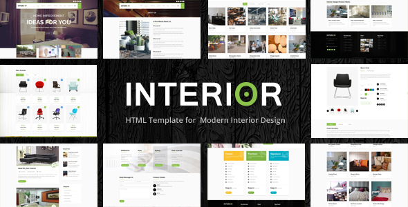 Interior   Responsive Website Template   Portfolio Creative