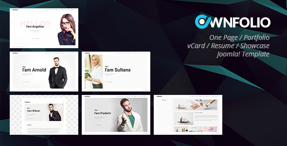 Ownfolio  One Page Personal Portfolio Joomla Template By Bdthemes