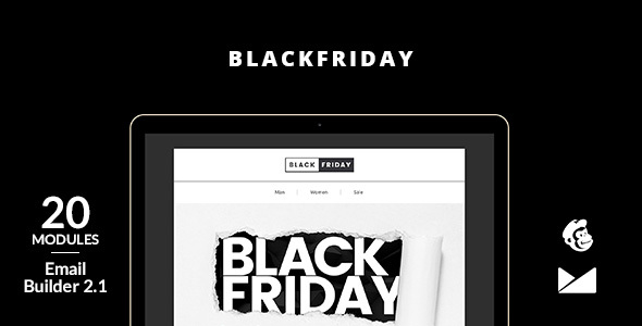 BlackFriday Email Template + Online Builder 2.1 by web4pro ...