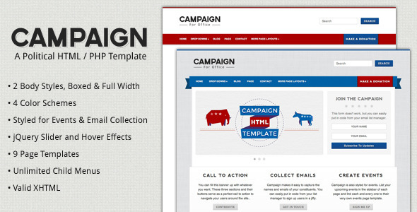 campaign political html template by designcrumbs themeforest