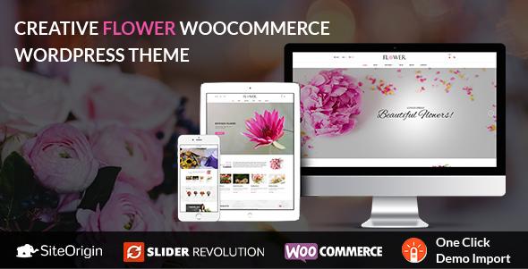 Creative Flower Woocommerce WordPress Theme by netbaseteam   ThemeForest
