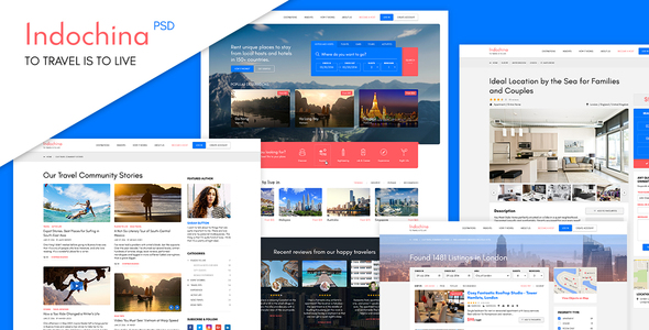 Indochina Travel PSD Template