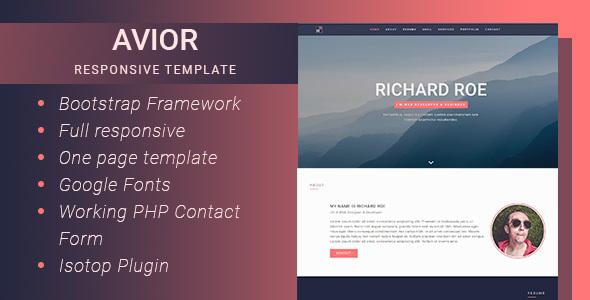 Avior - Responsive Portfolio Template by Gianfar | ThemeForest