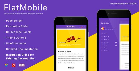 FlatMobile - Responsive WordPress Mobile Theme by MobiusStudio ...