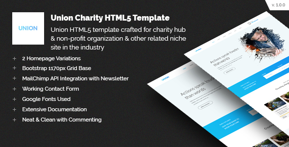 Union Charity Responsive HTML5 Template by CodeTides | ThemeForest