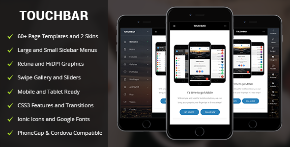 Touch Bar Mobile | Mobile Template by Enabled | ThemeForest