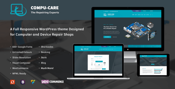 compu care computer mobile repair shop wordpress theme retail wordpress