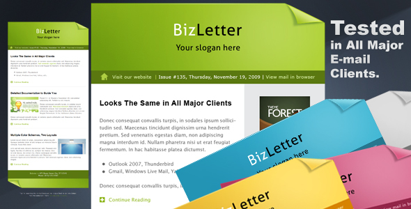 BizLetter Email Template