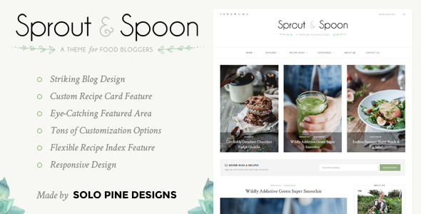 Sprout spoon a wordpress theme for food bloggers by solopine sprout spoon a wordpress theme for food bloggers personal blog magazine forumfinder Choice Image