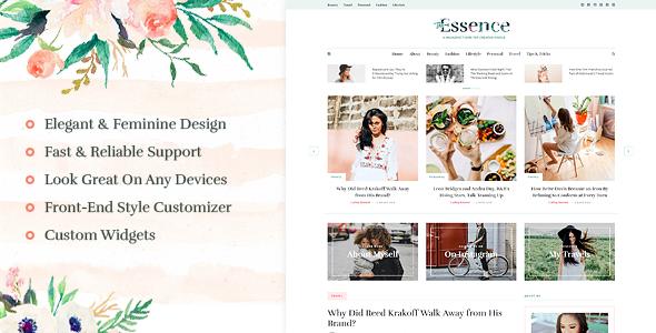 The Essence - A Responsive WordPress Blog Theme by MeridianThemes ...