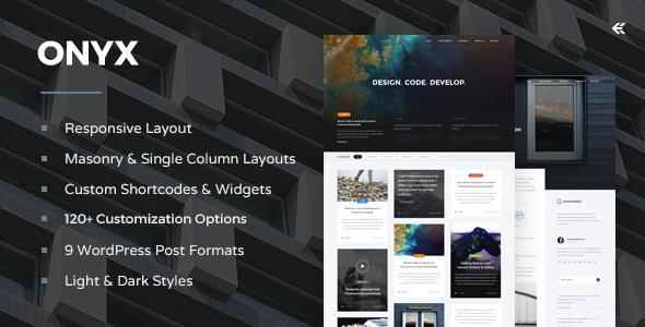 Onyx - Responsive WordPress Blog Theme by EckoThemes | ThemeForest