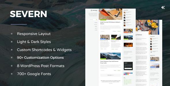 Severn - Responsive WordPress Blog Theme by EckoThemes | ThemeForest