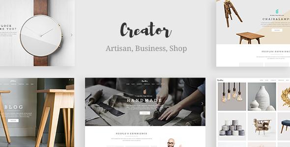 Creator - A Refined Theme for Handmade Artisans, Businesses & Shops ...