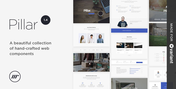 Pillar Multipurpose HTML Variant Page Builder By Mediumrare - Website template builder