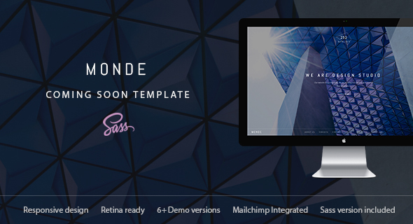 monde creative coming soon maintenance mode template specialty pages site templates