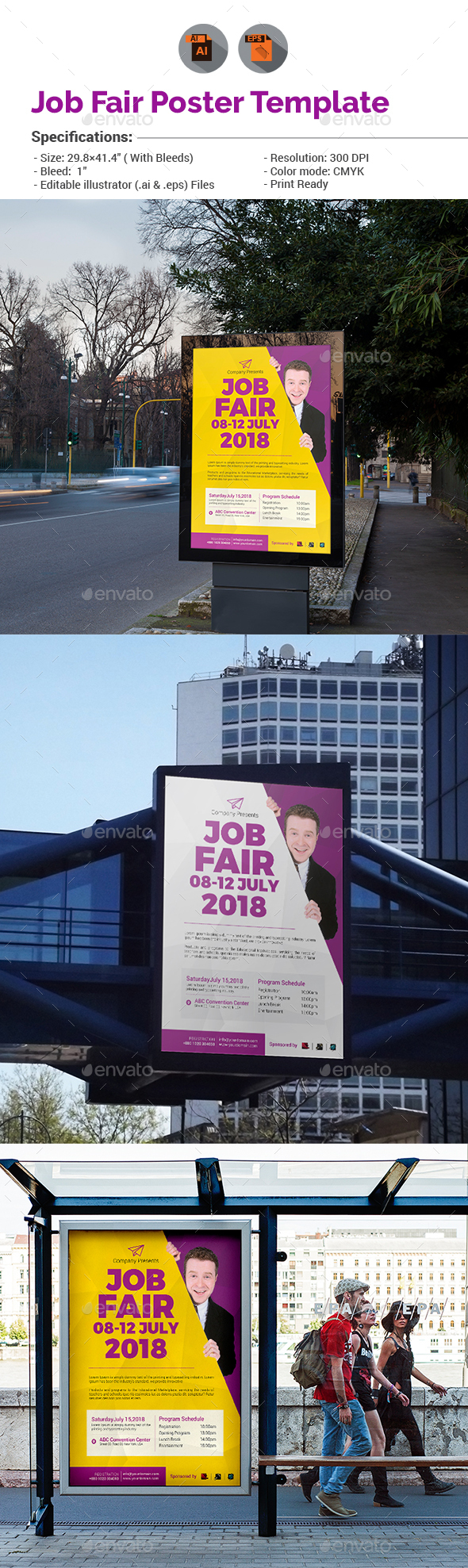 Job fair poster templates for drivers free
