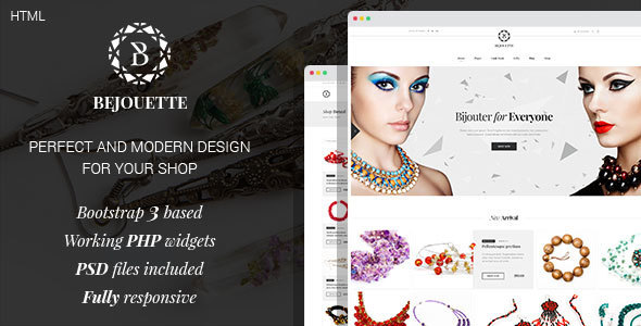 bejouette handmade jewelry designer html template by mwtemplates