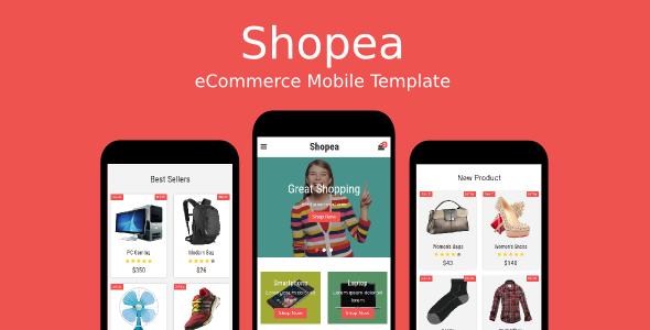 Shopea - eCommerce Mobile Template by rabonadev | ThemeForest