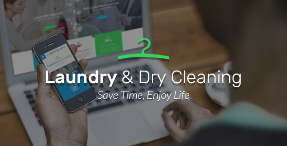 Laundry, Dry Cleaning services HTML website template by themetony ...