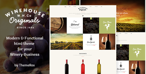 wine house winery restaurant site template by themerex themeforest