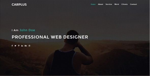 CARPLUS Simple Personal/Portfolio Template   Personal Site Templates