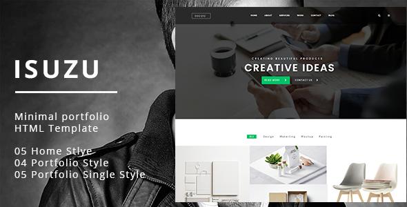 Isuzu   Creative HTML Template   Portfolio Creative